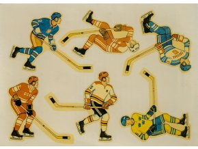 Obtisky dobové, hokejisté (1)