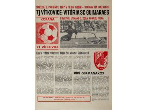 Program fotbal, TJ Vítkovice v. Vitória SC Guimaraes