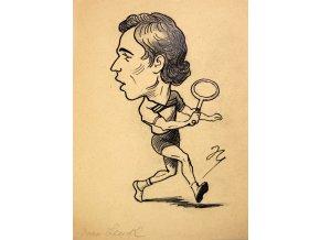 M. Niederle kresba Ivan Lendl