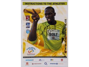 Official Instructions to the Athlets, Ostrava, U. Bolt, podpis, 2010 (1)