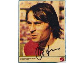 Výstřižek ze Stadionu František Cipro, autogram