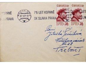 CELISTVOST 75 let kopané SK SLAVIA PRAHA II 1