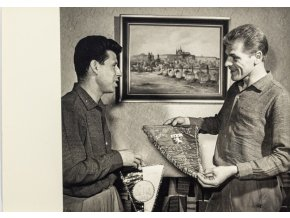 Fotografie Pluskal, Masopust s vlajkami, 1965 (1)