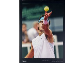 Velkoformátová fotografie, Del Potro, Davis Cup Ostrava, 2009