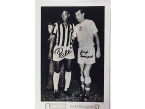 ydáno Klubem přátel Josefa Masopusta. Podepsáno J. Masopust. Pelé (2)