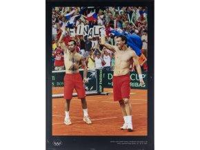 Velkoformátová fotografie, R. Štěpánek, T. Berdych, SF Davis Cup, 2009