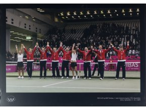 Velkoformátová fotografie, Fed Cup team, ČR v. Španělsko, 2009