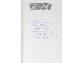 Kniha Zlatá Praha, věnování J. Masopustovi (2)