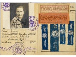 Členská legitimace, Klub Československých turistů, 1927
