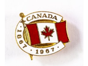 Odznak smalt Canada, 1867 1967