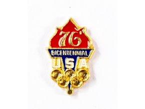 Odznak smalt Olympic, US team, Bicentennial, 76
