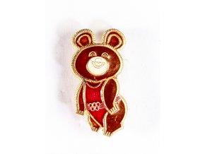 Odznak XXII. OH 1980, Moskva, maskot III