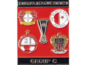 Odznak smalt Europa League 202021 Group C , SLAVIA, redblk