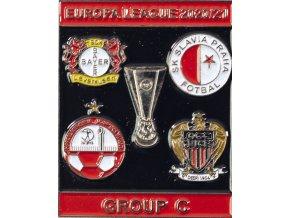 Odznak smalt Europa League 202021 Group C , SLAVIA, blkred