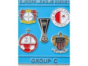 Odznak smalt Europa League 202021 Group C , SLAVIA, blue