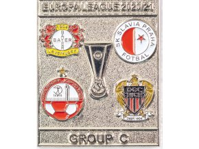Odznak smalt Europa League 202021 Group C , SLAVIA, silver