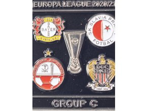 Odznak smalt Europa League 202021 Group C , SLAVIA, black