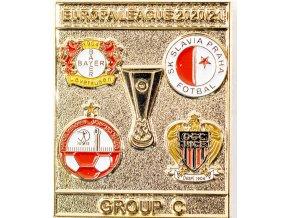 Odznak smalt Europa League 202021 Group C , SLAVIA, gold (1)