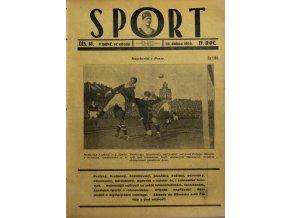 Časopis SPORT, č. 18, 1924