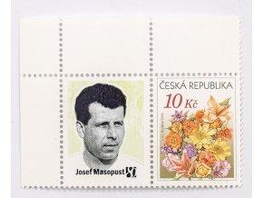 Známka s přítiskem, Josef Masopust, 80 let, 10 Kč