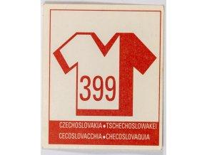 Kartička Czechoslovakia, 399 (2)