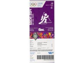 Vstupenka OG Sochi, 2014, Biathlon