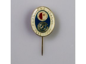 Odznak Champions league 1995 1996 Slavia vs. Grasshoppers BLUE