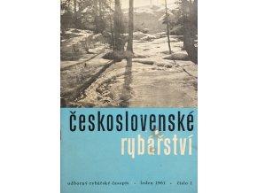 Časopis Československé Rybářství, 11961