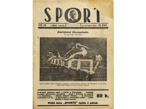 Časopis SPORT, č. 35, 1924
