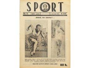 Časopis SPORT, č. 32, 1924 (1)