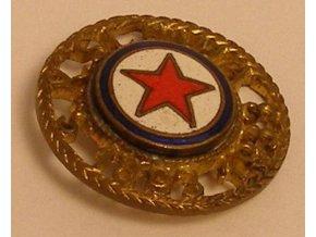 Výroční odznak řezaný , smalt, S.K.SLAVIA, 1893-1933