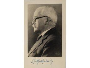 Podpisová karta pohlednice, Guth Jarkovský, Jiří Stan. Dr (1)