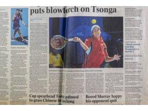 Noviny, The Australian, Sport, 2012,, Kvitová