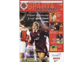 Program fotbal, Sparta v. Slavia, 2004