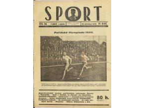 Časopis SPORT, č. 24, 1924 (1)