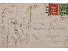 Dobová fotopohlednice, pozdrav z Hamburku, autogramy, Madden (2)