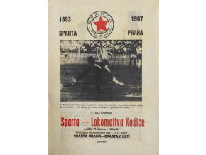 Program fotbal, Sparta Praha v. Lokomotiva Košice, 1968