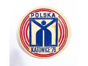 Pivní tácek POLSKA, Katowice 1976 (1)
