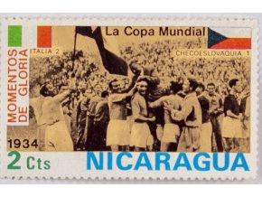 Známka MS fotbal, 1934, Italia Czechoslovakia, 2 Cts