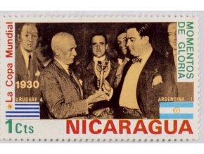 Známka MS fotbal, 1930, Uruguay Argentina, 2 Cts