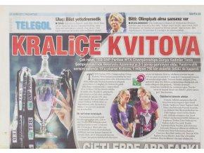 Noviny, Telgol, Sport, 2011, Kralice Kvitová (1)