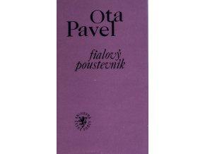 Kniha O. Pavel, Fialový poustevník, věnování J. Masopustovi (1)