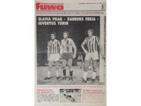 Časopis Fuwo, Slavia Prag Randers Freja Juventus, 1974 (1)