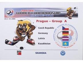 Dopisnice, 2004, MS v hokeji, ČR 6 ks 3
