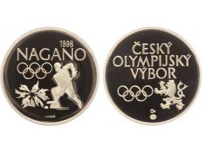 Stříbrná medaile Nagano, 1998, Ag, PROOF