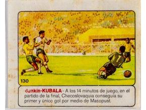 Obrázek obal žvýkačka, MS 1962, gól Masopust
