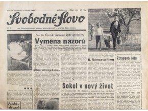 Noviny Svobodné Slovo, 6. V. 1968 (1)