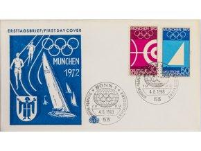 FDC XX.Olympishe Spiele Munchen, Bonn. 1972 1