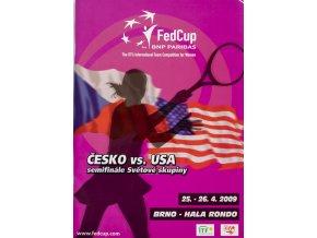 Program, Fed Cup , Czech Republic v. USA, 2009