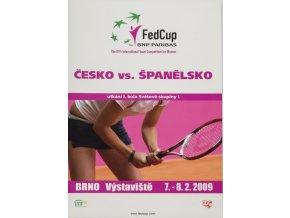 Program, Fed Cup , Czech Republic v. Spain, 2009